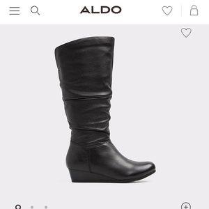 Aldo maddalena black boots size 7.5